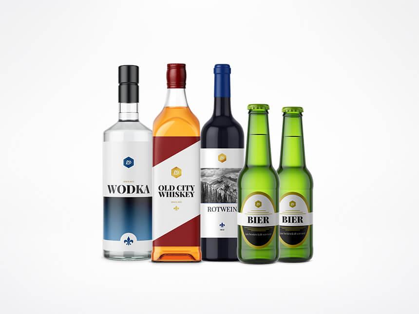 Etiketten für Spirituosen