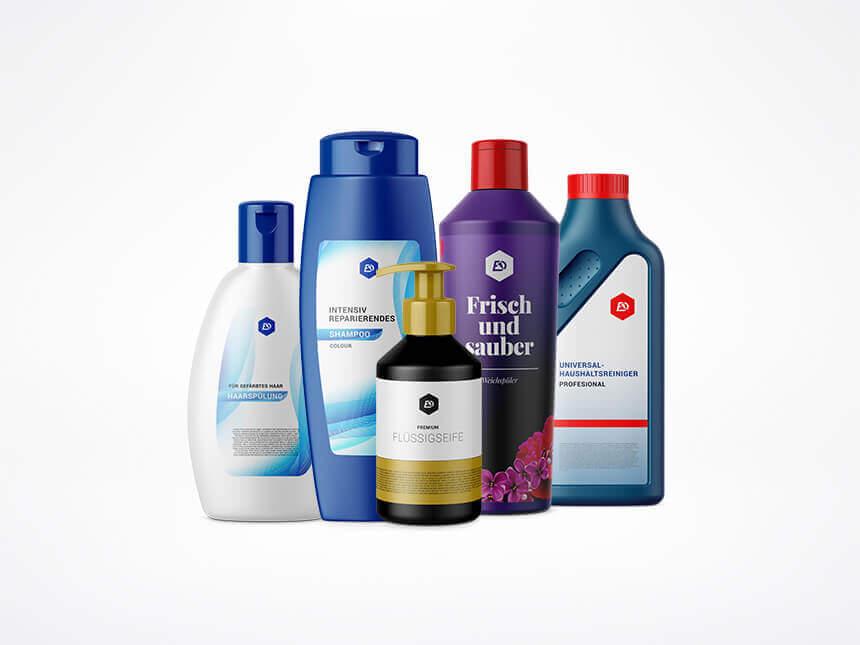 Etiketten für Kosmetik und Reinigungsprodukte