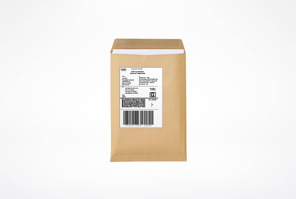 Etiketten für Briefumschlag