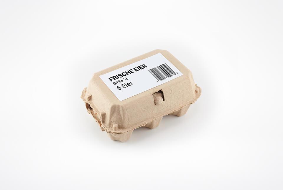 Etiketten für Eierkartons