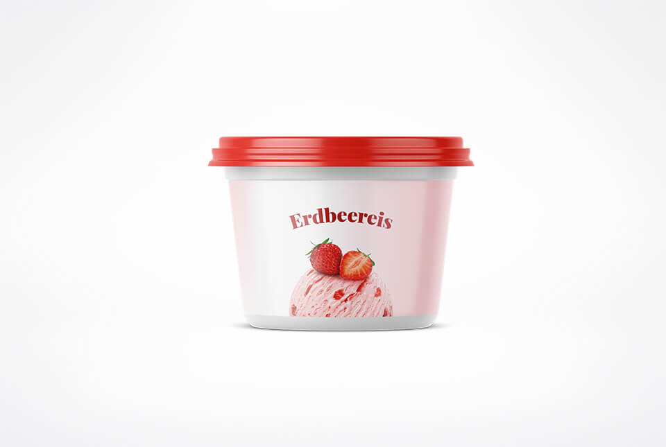 Etiketten für Eis