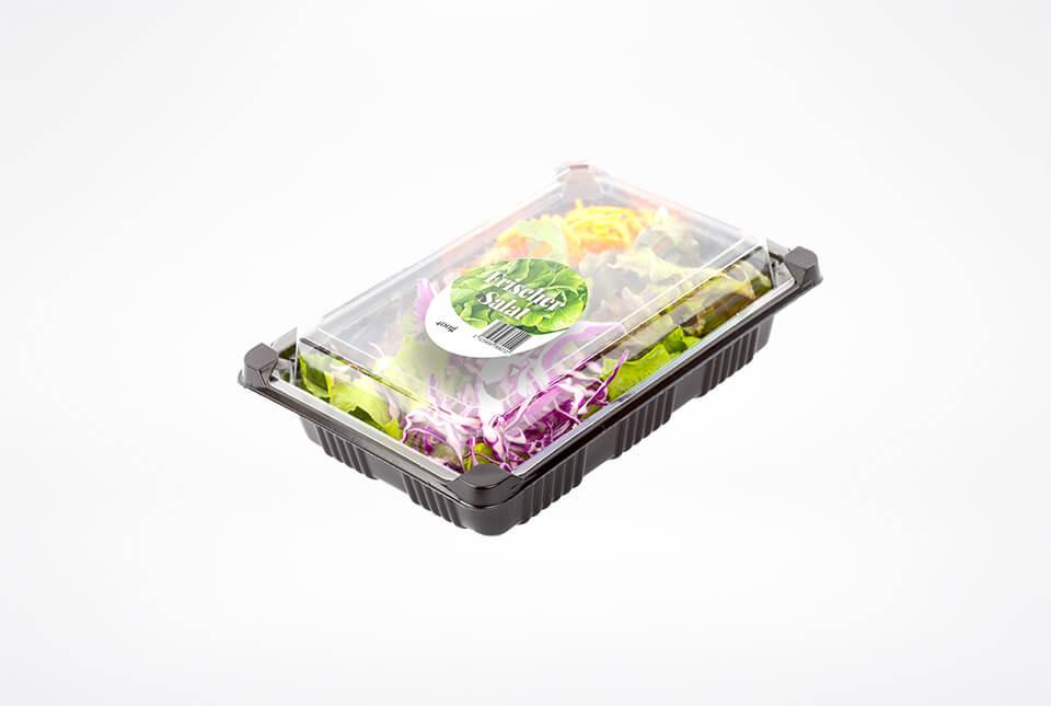 Etiketten für frischen Salat